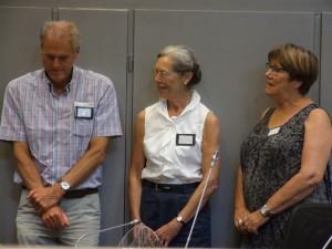 De vertegenwoordigers van de drie organiserende verenigingen: Jan van Gils, Ansje Strouken-Busink en Alice Heitling.