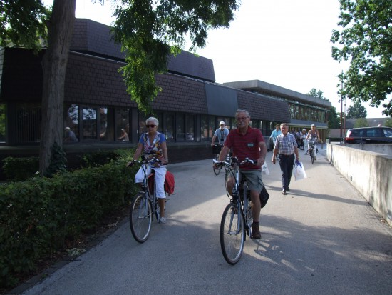 Op de fiets naar het Biesboschcentrum